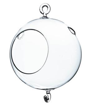 "HCH0105H2 Clear Hanging Glass Votive. Double Hook - 3""x7"" (24PCS)"
