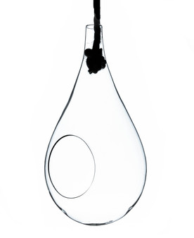 """HCH0910 Clear Rope Glass Terrarium - 5"""" x 10""""H (12 pcs)"""