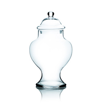 """VAP0415 Apothecary / Candy Buffet Jar - Large Bell Shaped Jar with Lid, 16.5"""" (2 pcs/case)"""