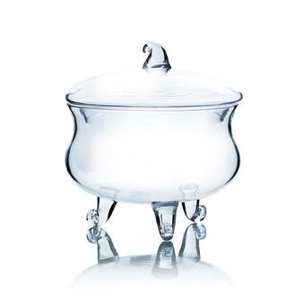 "VAP0708 Apothecary / Candy Buffet Jar - Footed Cauldron with Lid, 8.5"" (4 pcs)"