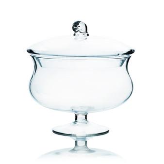 "VAP0808 Apothecary / Candy Buffet Jar - Pedestal Cauldron with Lid, 8.5"" (4 pcs)"