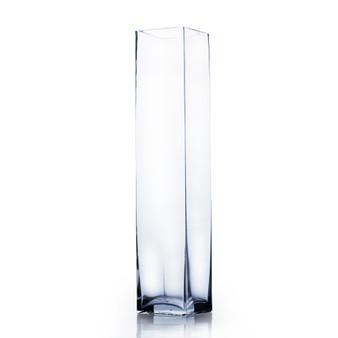 """VBV0420 Block Glass Vase - 4""""x20"""" (6 pcs)"""