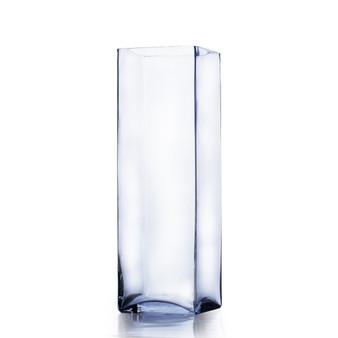 """VBV0516 Block Glass Vase - 5""""x16"""" (6 pcs)"""