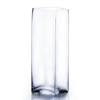 """VBV0616 Block Glass Vase - 6""""x16"""" (4 pcs)"""