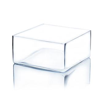 """VBV0804 Block Glass Vase - 8""""x8""""x4"""" (8PCS)"""