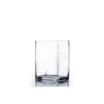 """VBV3405 - Block Glass Vase - 3""""x4""""x5""""H (24 pcs)"""