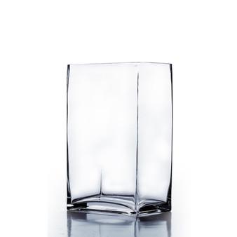 """VBV6412 Block Rectangle Glass Vase - 6""""x4""""x12"""" (6 pcs)"""