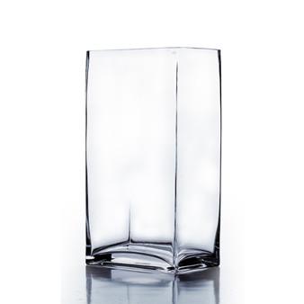 """VBV6414 Block Rectangle Glass Vase - 6""""x4""""x14"""" (6 pcs)"""