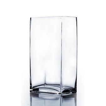 """VBV6416 Block Rectangle Glass Vase - 6""""x4""""x16"""" (6 pcs)"""