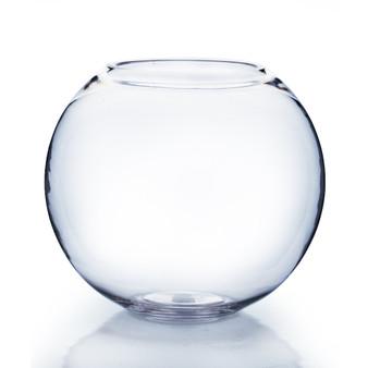 "VBW0006 Clear Bubble Bowl Glass Vase - 6"" (8PCS)"