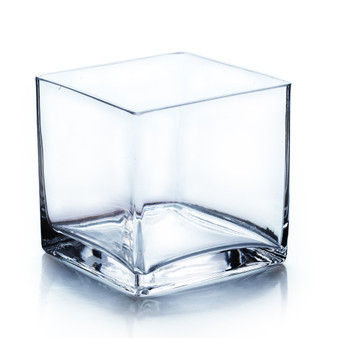 "VCB0004 - Clear Cube Glass Vase - 4""x4"" (12 pcs)"