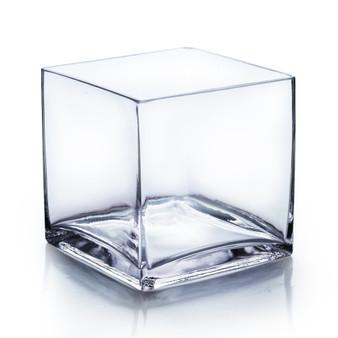 "VCB0007 - Clear Cube Glass Vase - 7""x7"" (4 pcs)"
