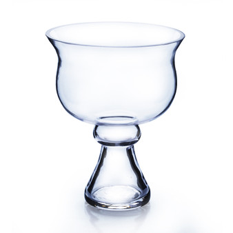 "VCP0608 Bowl Glass Vase on Stand - 6""x8"" (12 pcs)"