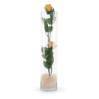 """VCY0418 - Cylinder Glass Vase - 4""""x18"""" (12 pcs/case)"""