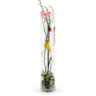 """VCY0420 - Cylinder Glass Vase - 4""""x20"""" (6 pcs)"""