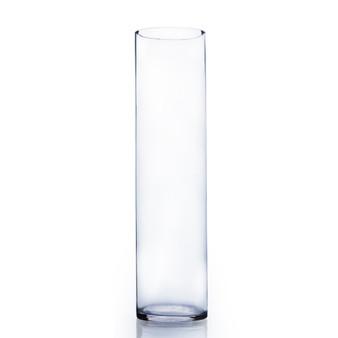 """VCY0626 Cylinder Glass Vase - 5.7""""x26"""" (4 pcs)"""