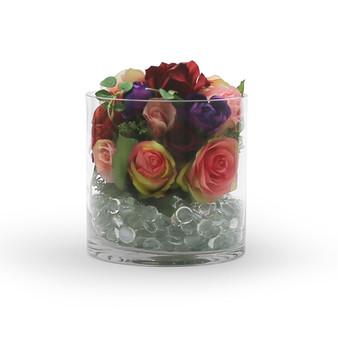 """VCY0707 Cylinder Glass Vase - 7""""x7"""" (6 pcs)"""