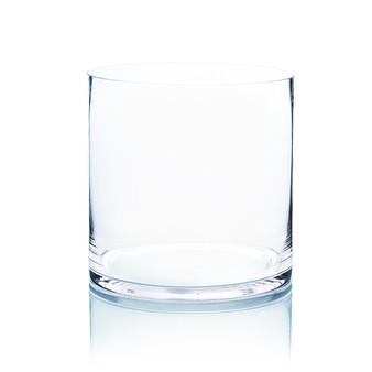 """VCY0808 Cylinder Glass Vase - 8""""x8""""H (6pcs)"""