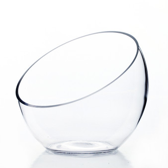 "VHC0706 Slant Bowl Glass Vase- 7""x6""x3"" (8 pcs)"