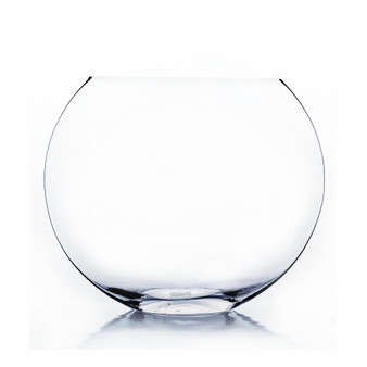 VMV1010 Clear Moon Bowl Vase - 7.5x10 (6PCS)