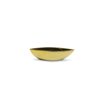 "CNB7610GD Ceramic Boat Vase in Gold - 10"" L x 2.35"" H (24 pcs)"