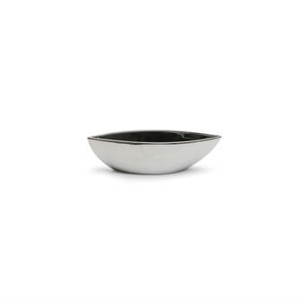 """CNB7610SV Ceramic Boat Vase in Silver - 10"""" L x 2.35"""" H (24 pcs)"""