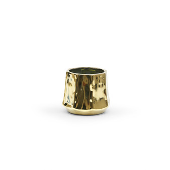 "CUB8106GD Unique Gold Ceramic Pot - 7.5"" W x 6.7"" H (16 pcs)"