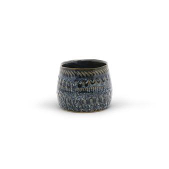 """CUB9504BL Medium Fancy Blue Pot - 3.75"""" H (24 pcs)"""