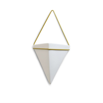"CUD2607WT Hanging Inverted Pyramid Ceramic with Wall Mount - 6.9"" (6 pcs)"