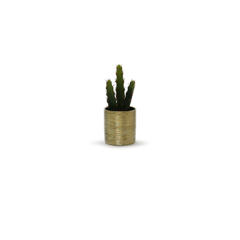 "CYL0004GX - Textured Gold Cylinder Ceramic - 4""  (24 pcs/case)"
