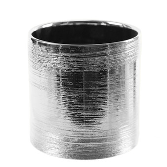 "CYL6506SX Textured Silver Cylinder Ceramic - 6.5""x6"" (6 pcs)"