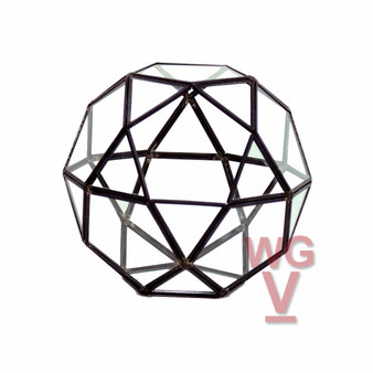 "GET1507BK Multi-Facet Geometric Ball Terrarium - 7.5"" W x 7"" H (4 pcs)"