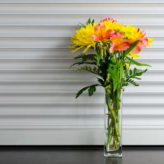 """VBV0312 Block Glass Vase - 3"""" x 12"""" (12 pcs)"""