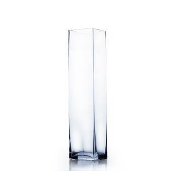 """VBV0314 - Block Glass Vase - 3"""" x 14"""" (12 pcs)"""
