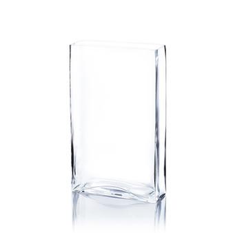"VBV8318 - Clear Squared Rectangular Vase - 7"" L x 3"" W x 8"" H (6 pcs)"