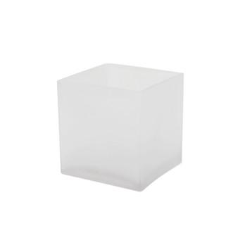 "VCB0004FR - Frosted Cube Glass Vase - 4""x  4""(12 pcs)"