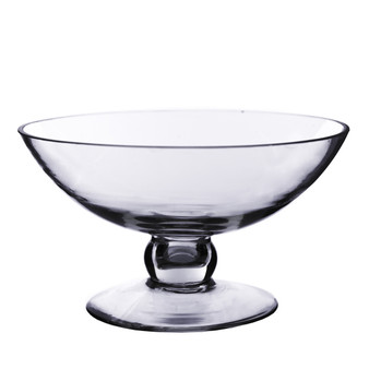 "VCP0905 Clear Center Bowl on Stand -  9.25"" W x 5"" H (6 pcs)"