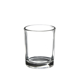 "VCY0002 Small Cylinder Glass Votive Candle Holder - 2"" x 2"" (144 pcs - Machined)"