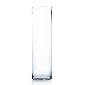 "VCY0828 Clear Cylinder Glass Vase - 8"" x 28"" (2 pcs/case)"