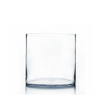 "VCY0910 - Clear Cylinder Glass Vase - 9"" x 10"" (2 pcs/case)"