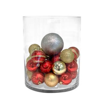 "VCY0912 - Clear Cylinder Glass Vase - 9"" x 12"" (2 pcs/case)"