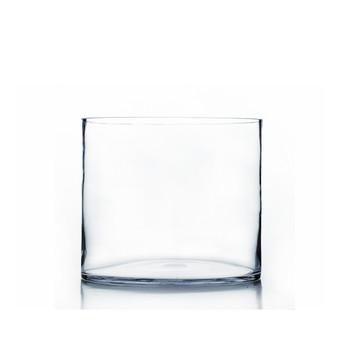 "VCY1008 - Clear Cylinder Glass Vase - 10"" x 8"" (4 pcs)"