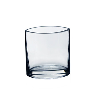 """VEV6004 Oval Eye Glass Vase - 4"""" (24 pcs)"""