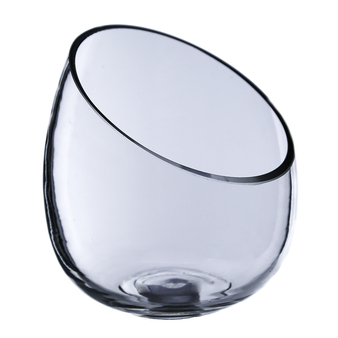 "VHC5507 Clear Round Slant Cut Vase - 7"" (12 pcs)"