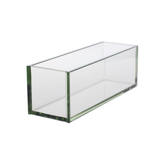 "VPB4412 Rectangular Plated Glass Container - 4"" W x 12"" L x 4"" H (6 pcs)"