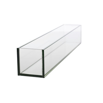 "VPB4424 Rectangular Plated Glass Container - 4"" W x 24"" L x 4"" H (4 pcs)"