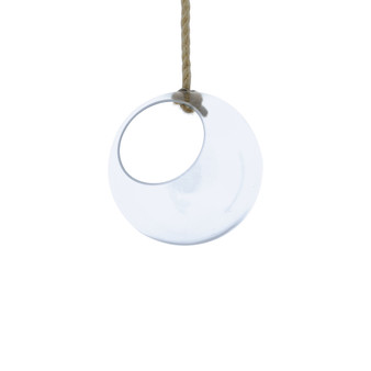 "VRV0108 Rope Hanging Glass Globe - 8"" (8 pcs)"