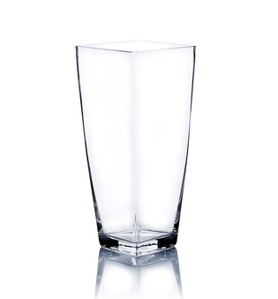 "VTB5512 Clear Taper Down Block Vase -  5"" x 12"" (6 pcs)"