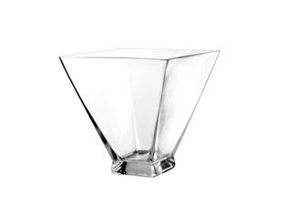 "VTB8808 Clear Taper Down Block Vase -  8"" x 8"" (4 pcs)"