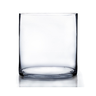 "Clear Cylinder Glass Vase - 12"" x 12"" (2 pcs/case)"